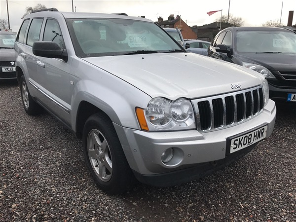 used 2008 jeep grand cherokee 3 0 crd limited auto diesel 4x4 68 638 miles in bright silver for. Black Bedroom Furniture Sets. Home Design Ideas