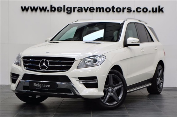 used 2013 mercedes benz ml class bluetec amg sport full heated leather 4x4 44 mpg auto not. Black Bedroom Furniture Sets. Home Design Ideas